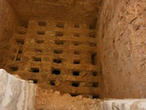 Interior del horno del Tejar. Almazorre