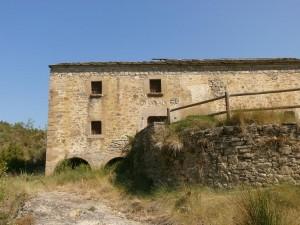 Molino de Almazorre. Detalle de los cárcavos