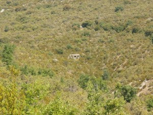 Camino de Betorz, un arnal al otro lado del barranco