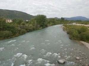 Río Ara, a su paso por L'Ainsa