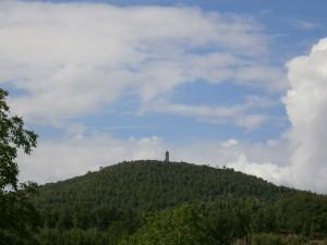 Una vista de Guaso, camino del molino