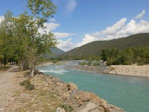 Río Ara, camino de Boltaña