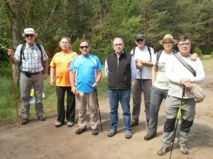 Foto de grupo, camino de Boltaña