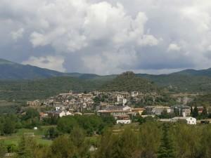 Boltaña. El castillo en la parte superior del cerro