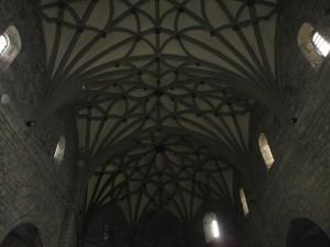 Boltaña. Bóveda de crucería en la iglesia de San Pedro