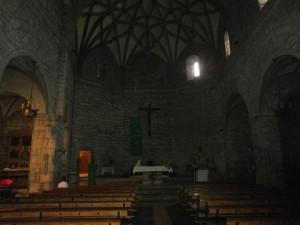 Boltaña. Altar mayor iglesia de San Pedro