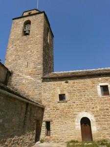 San Vicente. Torre campanario y abadia