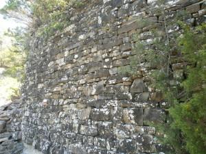 Camino de El Pueyo de Araguás. Muro de piedra