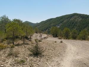 Camino de L'Ainsa. Terrenos de margas
