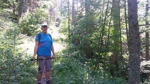 Camino de subida al refugio de montaña. Valle de Estós