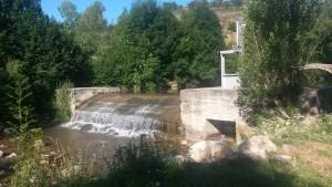 Laspaúles. Azud en el río Isábena