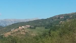 Villarrué. Al fondo sierra de Chía