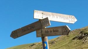 Desvio al Puerto La Forqueta, camino del Puerto Viejo de Bielsa
