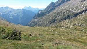 Valle de Pinarra, al fondo el Valle de Bielsa