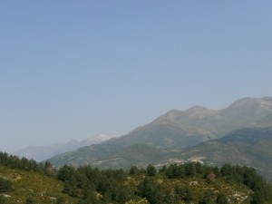 Picos Gallinero y Urmella, desde San Salvador
