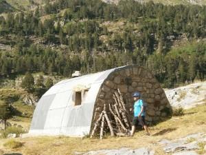 Cabaña refugio en el Pla d'Estañ