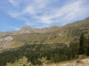 Pico La Mina y La Costera, desde Aiguallut