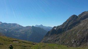 Valle de Bielsa. Al fondo el macizo de Posets