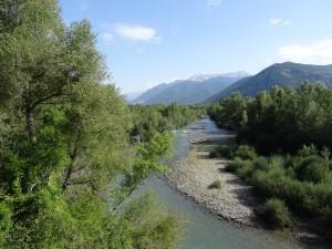 Tierras de Biescas. Río Gállego