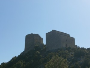 Samitier. San Celedonio y San Emeterio. Al fondo castillo