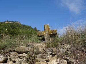 Camino de Perarrúa. Cruz de piedra