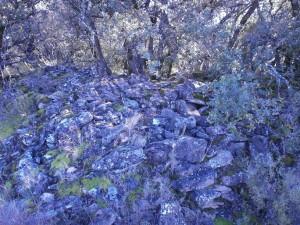 Perarrúa. Amontonamiento piedras en San Martín
