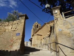 Bespén. Subida al castillo y San Juan Evangelista