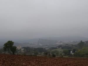 Vista de Benabarre. Camino de Sagarras Altas