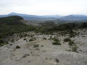 Camino San Victorián. Afloraciones de margas