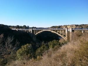 Angües. Puente de Arbex sobre el río Alcanadre