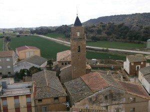 Azara. Vista desde lo alto del castillo
