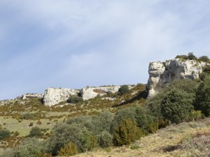 Camino del Mesón de Sevil. Zona de escarpes