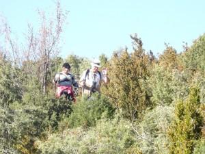 Llegando al cerro de Quizáns