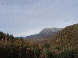 Camino de Fornons, Una vista del Turbón