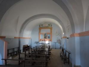 Interior ermita de San Quílez