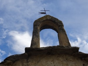 Güel. Espadaña iglesieta Casa Solano