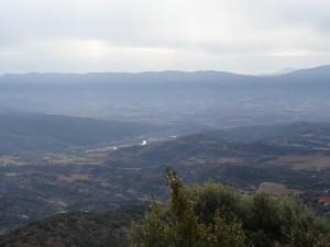 Güel. Vista del valle del Isábena, desde la ermita