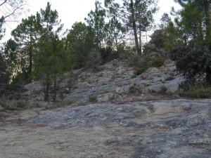 Camino de Pedrui. Areniscas