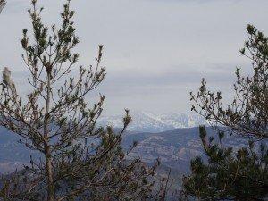 Güel. Vista de los Besiberris, desde la ermita
