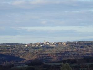 Vista de Adahuesca, camino de Buera