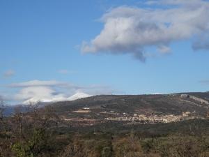 Vista de Alquézar, camino de Buera