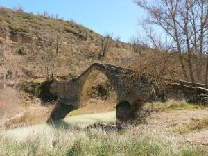 Colungo - Buera. Puente de La Albarda