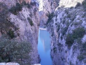 Río Ésera por el Congosto de Olvena