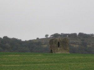 Caseta tallada en piedra. Camino Torres de Montes