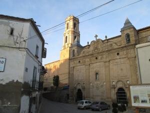 Peralta de la Sal. Santuario y torre iglesia parroquial