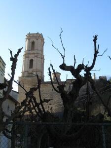Peralta de la Sal. Torre de la iglesia parroquial