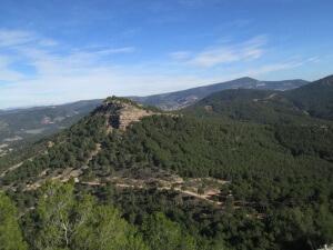 Tozal Gordo, desde el Castillo de la Mora