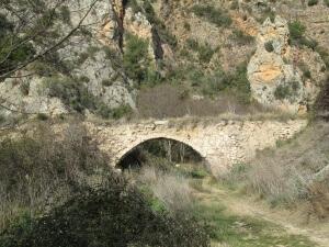 Congosto de Baldellou. Antiguo acueducto