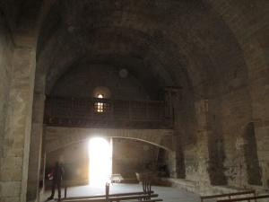 Ermita de San Román de Castro. Arco que soporta el coro