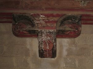 Ermita de San Román de Castro. Ménsula de soporte del coro